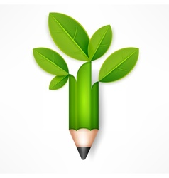 Creative pencil with green vector image