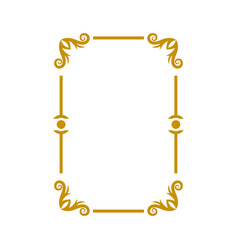 decorative frame icon design template vector image