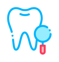 dentist stomatology tooth survay sign icon vector image