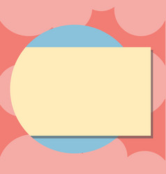 Design business empty template isolated minimalist vector