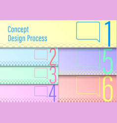 Design process template vector