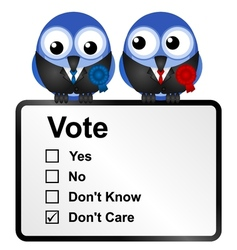 Dis voters vector image
