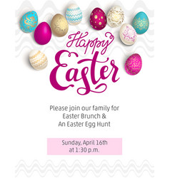 Easter red holiday template vector