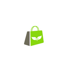 eco organic bag logo vector image