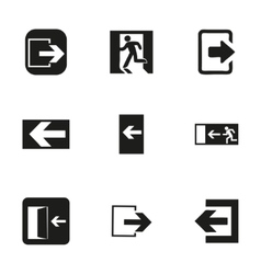Exit icons set vector