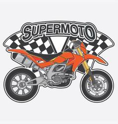 Extreme supermoto design logo concept vector