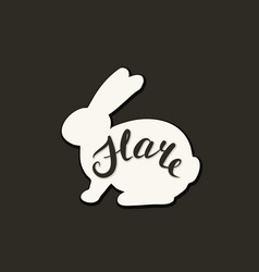 Flat icon of a hare vector
