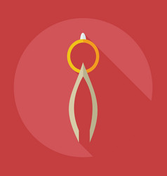 Flat modern design with shadow icons pliers vector