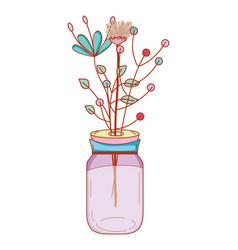 Flower decoration cartoon vector