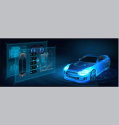 futuristic auto service vector image