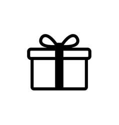 gift icon gift box symbol vector image