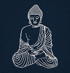 Hand drawn Buddha vector image