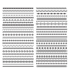 hand drawn line borders dividers with geometric vector image