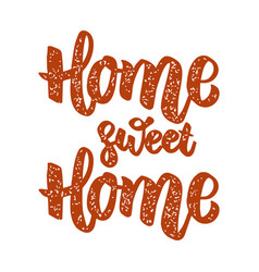 home sweet home design element for poster menu vector image