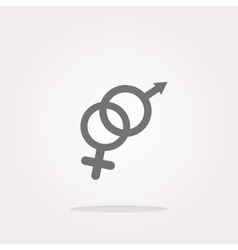 icon web button with male female symbol vector image