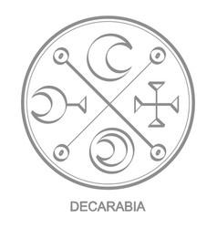 Icon with symbol demon decarabia vector