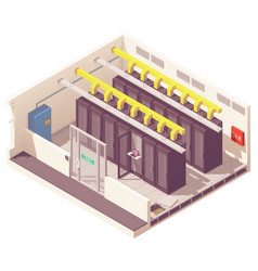 Isometric server room vector