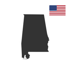 map of the us state alabam vector image