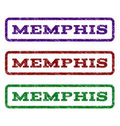 Memphis watermark stamp vector