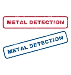 Metal Detection Rubber Stamps vector