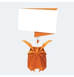 Origami isolated animal Cute Owl vector