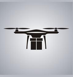 package delivery drone concept of a drone vector image