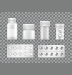 Pharmacy and medicines means pills blisters vector