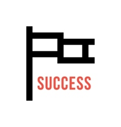 Pixelart flag like leadership icon vector