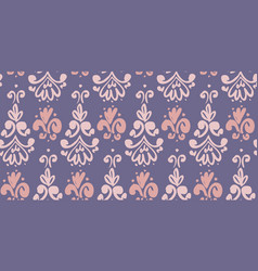 Playful rosy and violet classic seamless pattern vector
