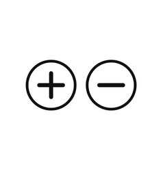 Plus and minus icon in modern design style for vector