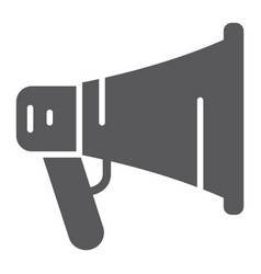 promotion glyph icon megaphone and communication vector image