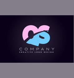 qs alphabet letter join joined letter logo design vector image