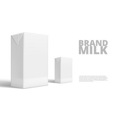 realistic tetra pack milk or juice clear white vector image