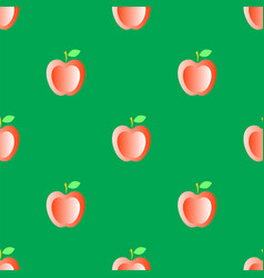 red fresh apple seamless pattern vector image