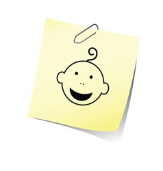 reminder with baby head smile vector image vector image