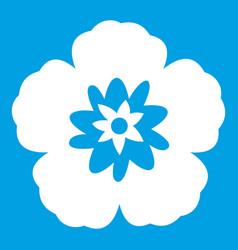 rose of sharon korean flower icon white vector image