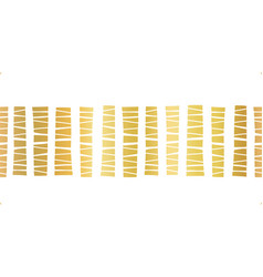 Seamless border gold foil stripes pattern vector