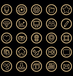 Set of web icons for design vector