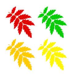 Set rowan leaf vector