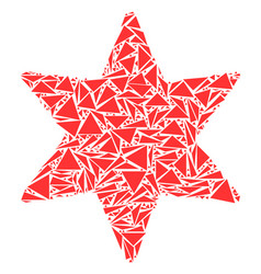 Six-pointed star mosaic of triangles vector