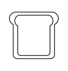 slice of bread cartoon vector image