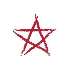 star icon grunge texture vector image