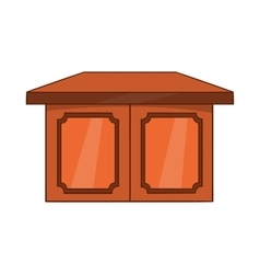 Table for living room icon cartoon style vector image
