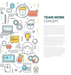 Team Work Vertical Linear Concept vector
