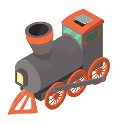 Train icon isometric 3d style vector