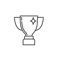 trophy cup concept minimal icon in outline vector image