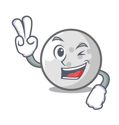 Two finger golf ball character cartoon vector