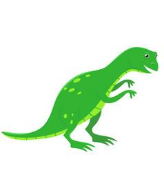 tyrannosaurus dinosaur in cartoon style isolate vector image