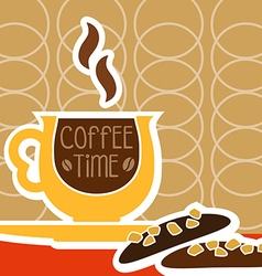 a cup of coffee and sweet vector image vector image