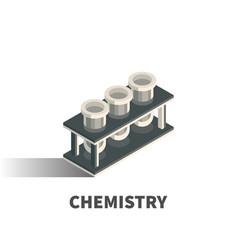 chemistry icon symbol vector image